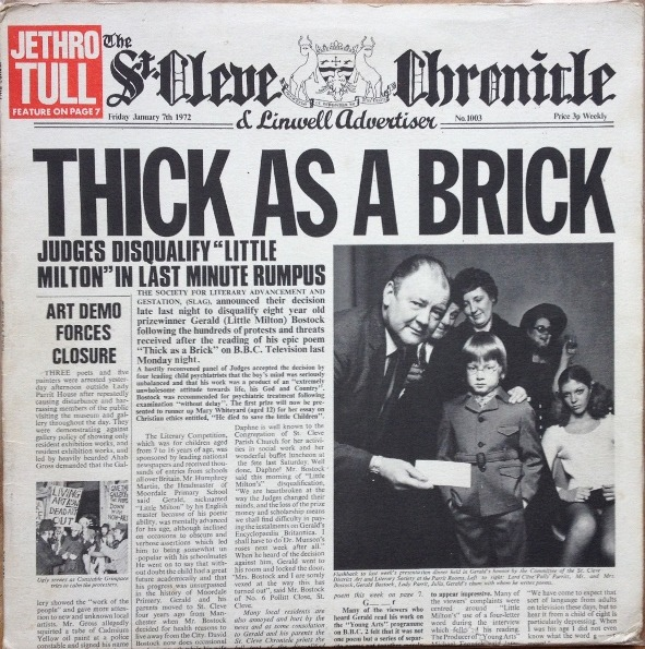 Jethro Tull - Thick As A Brick (UK 1972)