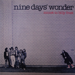 Nine Days' Wonder Sonnet To Billy Frost